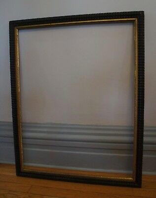 Rare Large Mid-19Th Century American Dutch Style Ripple Picture Frame Lemon Gilt