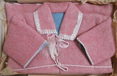 "BNIB Vintage 1940's Infants Pink Fleece Dressing Gown Robe 22"" Chest Deadstock"