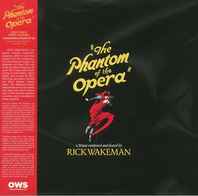 NEW Rick Wakeman - The Phantom of the Opera (Red Vinyl 2 LP Set, 2017, OWS 22)
