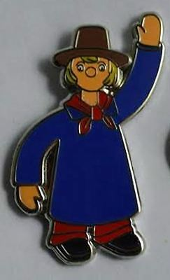 **NEW** Windy Miller enamel badge. Camberwick Green, Retro, Kids, Childrens TV.
