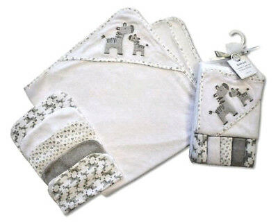 Baby Hooded Towel with 5 Washcloth Set, baby washcloths, hooded towel for babies