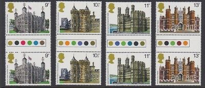 GB EII 1978 Architecture TRAFFIC LIGHT GUTTER PAIR MINT set sg1054-1057 MNH