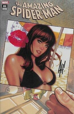 Marvel The Amazing Spider-Man #800 Mary Jane Cover A Signed Adam Hughes ASM