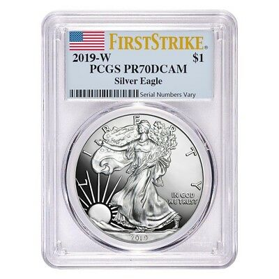2019-W 1 oz Proof Silver American Eagle PCGS PF 70 DCAM First Strike