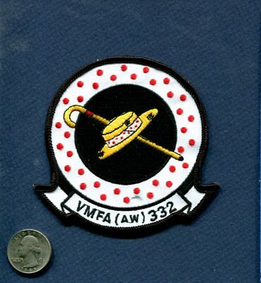 VMFA(AW)-332 MOONLIGHTERS Classic USMC MARINE CORPS F-18 HORNET Squadron Patch 2