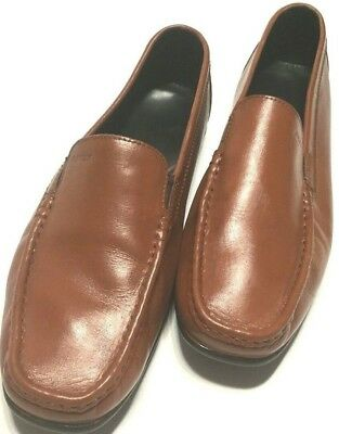 e7d031afb1d1a GEOX Leather Driving Mocs Loafer Shoes Brown Men's Size 43.5EU Size 10.5US