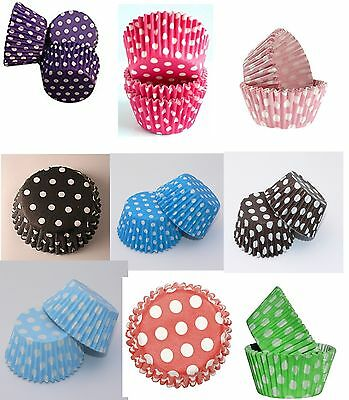 48 Polka Dot Spotty CUPCAKE CASES Muffin Baking Party liners