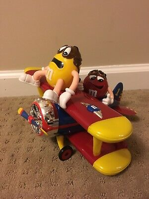 M&M's World Red & Yellow Character Barnstorming Airplane Candy Dispenser W/ Box