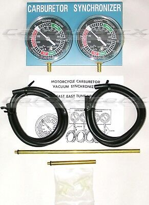 CARBURETOR SYNCHRONIZER FOR Dual Carb 2 Cylinder Engines Motorcycle Carb  Sync