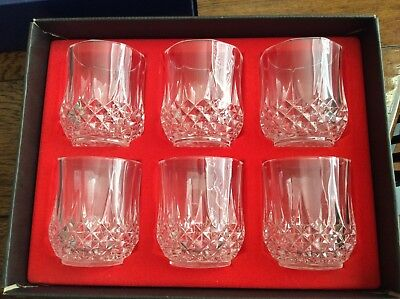 Cristal D'arques Longchamp Highball, Old Fashion 6 Glasses In Box Lot Q 1 Of 2