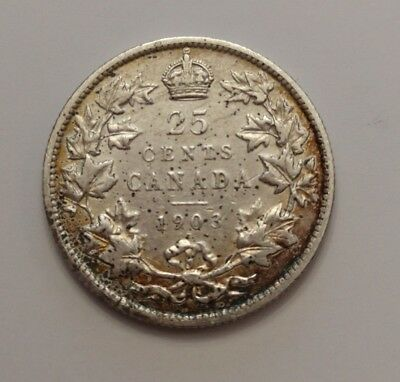 ** King Edwards ** 25 Cents 1903 ** Semi Key Date **