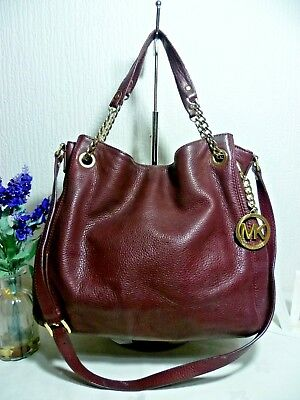 4c5a84fdc8cec5 MICHAEL KORS Bag Large Leather Plum