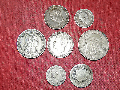 Nice Lot of European Coins Switzerland Poland Portugal Greece 5 Zloty Silver