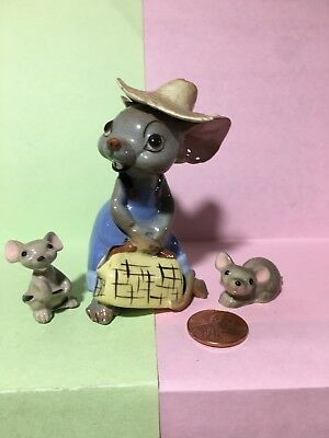 Hagen Renaker Country Mouse miniature California Pottery mice figurines