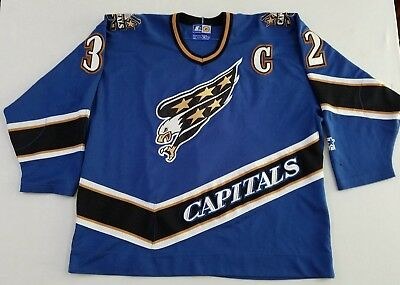 Washington Capitals Vintage Starter NHL Jersey  32 Blue Screaming Eagle XXL  YV 0662a9865ea