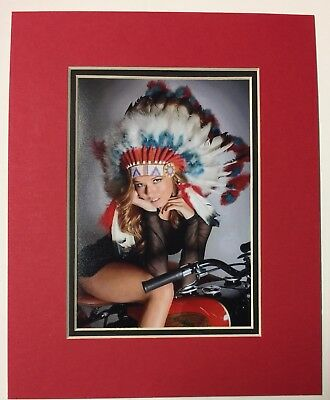 """INDIAN MOTORCYCLE PHOTO PROFESSIONALLY MATTED TO 8"""" x 10"""""""