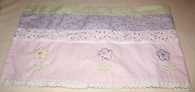 little girls window valance flowers