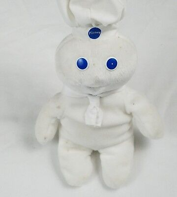 "Pillsbury Dough Boy Beanie 9.5"" Laughing Applause 1999"