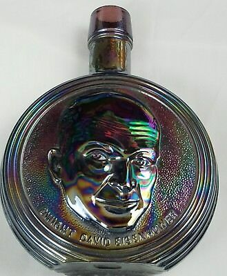 Wheaton Presidential Decanter Dwight D Eisenhower Iridescent Vintage Decanter