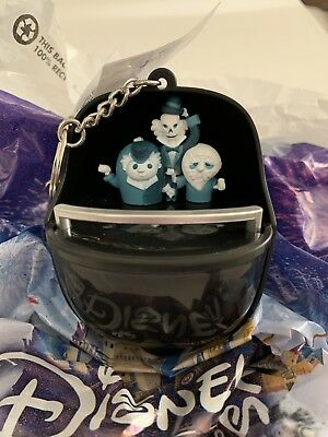 Disney Parks Haunted Mansion Doombuggy Light Up Keychain Hitchhiking Ghosts NEW