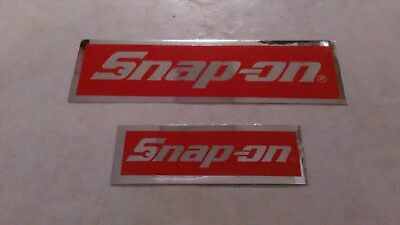 Snap-on tools official 2 piece foil logo decal stickers new.