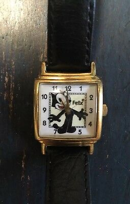 Vintage FELIX THE CAT Fossil Limited Edition Watch Felix Cartoon Number 505/1000