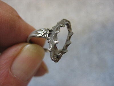Dug Fancy Silver Ring From Union Winter Camp- Falmouth, Va.