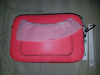 d7bae873b0e9 LA TERRE FASHION VEGAN CROSSBODY BAG PURSE new Color RED