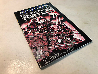 Signed Re-Marked Sketch Kevin Eastman Fcbd Teenage Mutant Ninja Turtles #1 Htf B