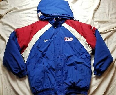 21f775d8c Vintage New York Giants Reebok Authentic NFL Pro Line Puffer Jacket Size  Large