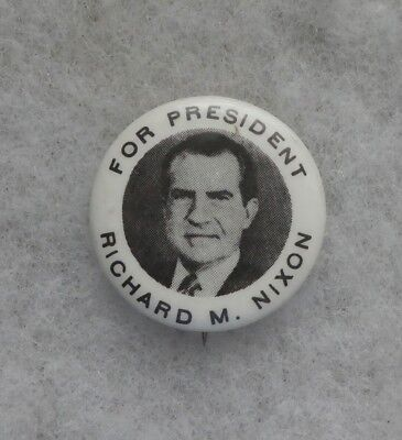 Vintage 1968 For President Richard M. Nixon Campaign Button