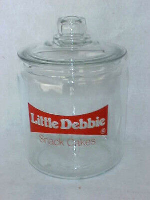 Vintage Little Debbie Peanut Jar, Glass Lid, Tom's / Lance Gordons Store Display