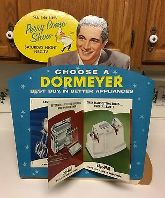 Vintage Perry Como Dormeyer Motorized Moving Book Display Unused w/ Box 60's