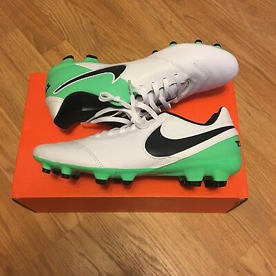 separation shoes 93fc9 4e3f1 NEW NIKE TIEMPO GENIO II LEATHER FG Mens Size 9.5 Soccer Cleats 819213-103
