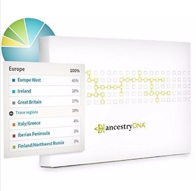 AncestryDNA Genetic Testing - DNA Ancestry Test Kit New Sealed FAST SHIPPING