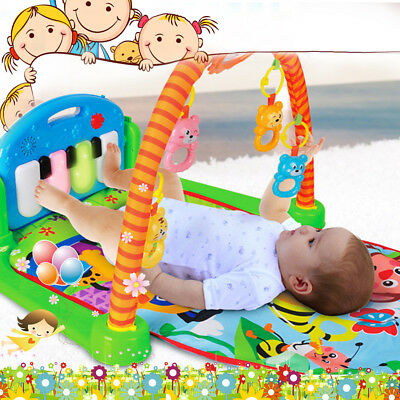 3 In 1 Musical Lullaby Baby Activity Playmat Gym Floor Toy Play Mat Kid Sleep