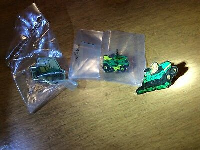 Lot Of Three John Deere Horicon Works Hat Pins Lawn Tractor Front Mower Gator