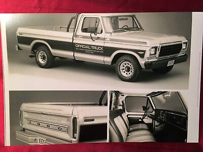 1979 Ford Ranger F150 Indy 500 Official Truck The Best Wow 12X18 In Photo Poster