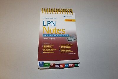Lpn Notes Nurse S Clinical Pocket Guide By Myers Rn Ehren 15 95