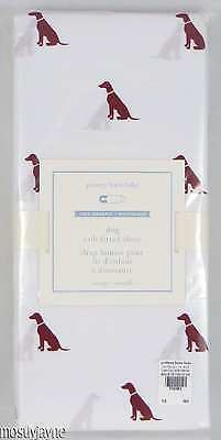 Pottery Barn Kids・Organic Dog Crib Fitted Sheet・Red Puppy NWT