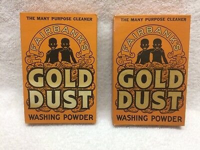 Vintage Fairbanks Gold Dust Washing Powder Unopened **LOT OF 2** Collectible