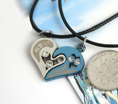 Anime Hatsune Miku Pendant Necklace Jewelry Valentine's Day Lovers Gifts Cosplay