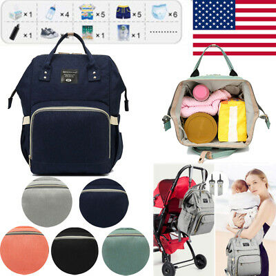 Baby Diaper Mummy Bag Multi-Function Travel Backpack Nappy Bags Baby Care US