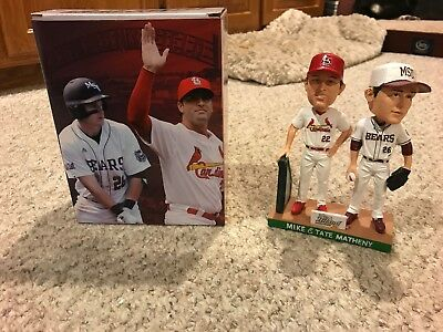 St. Louis Cardinals & MSU Bears-Mike & Tate Matheny Bobbleheads-New In Box!