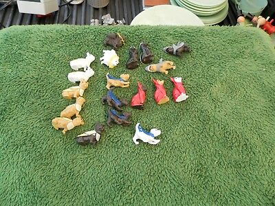 Rare Vintage? Mini Rubber Dogs In Halloween Costumes Lot Of 19 Estate Find