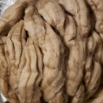 CRAZY Baby CAMEL 100% combed Top roving GOLDEN BROWN 16-17 micron spin yarn