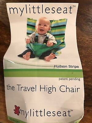 My Little Seat Travel High Chair - Blue Stripes. Baby Feeding Infant Gift
