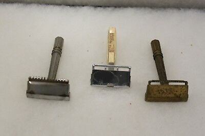 Lot Of 3 Gem Vintage Safety Razors   Micromatic  *13