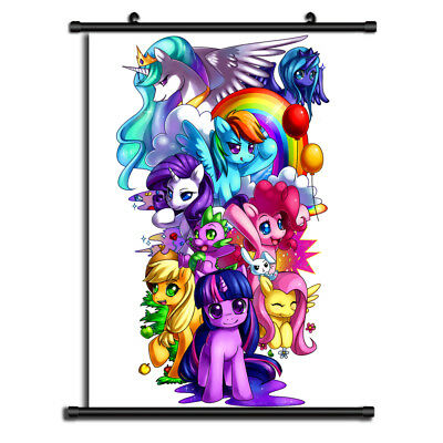 My Little Pony Anime HD Canvas Print Wall Poster Scroll Home Decor Cosplay