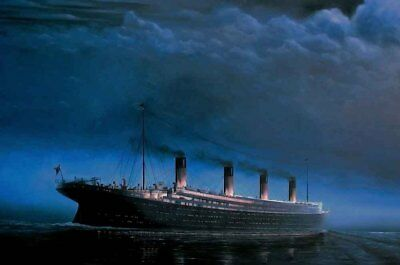 Home Art Wall Decor Eternal Titanic iceber oil painting Printed on canvas IV